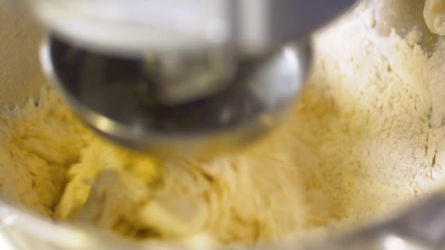 Machine kneading dough, slo mo