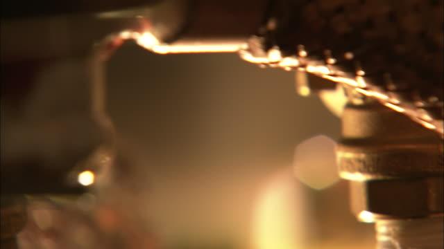 a machine spins in a laboratory. - maschinenbau stock-videos und b-roll-filmmaterial