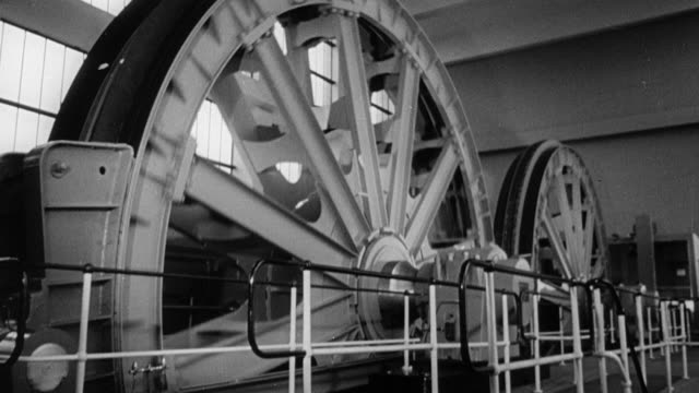 1964 b/w machinery and mechanization in a coal mine / united kingdom - railroad car stock videos and b-roll footage