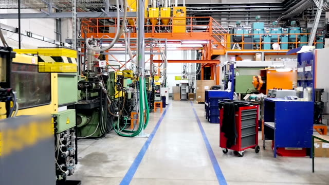 stockvideo's en b-roll-footage met machines, apparatuur in de productielijn - factory