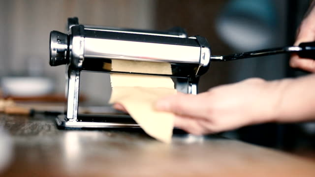machinery for homemade pasta - tagliatelle stock videos and b-roll footage