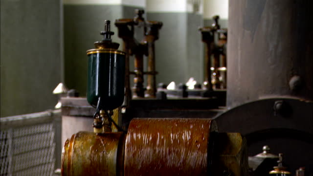 machinery operates in a water pumping station. - water pumping station stock videos & royalty-free footage