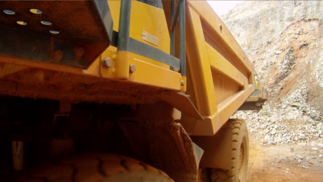 ms pov machinery working at quarry / taben-rodt, rhineland-palatinate, germany - crane construction machinery stock videos & royalty-free footage