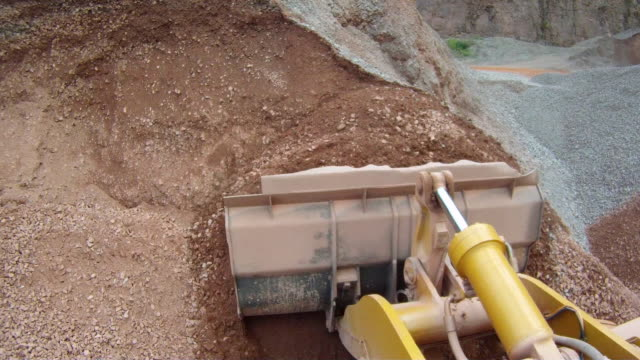 MS POV Machinery working at quarry / Taben-Rodt, Rhineland-Palatinate, Germany
