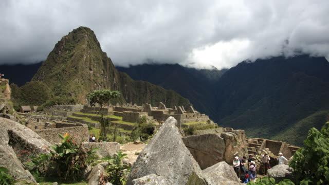 Machu Picchu and rocks timelapse