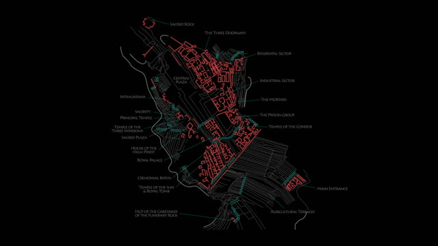 Machu Picchu - Animated Sanctuary Map - 4K