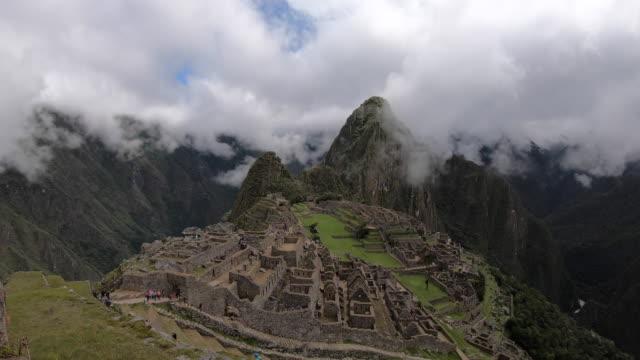 machu picchu (inca citadel) / peru - old ruin stock videos & royalty-free footage