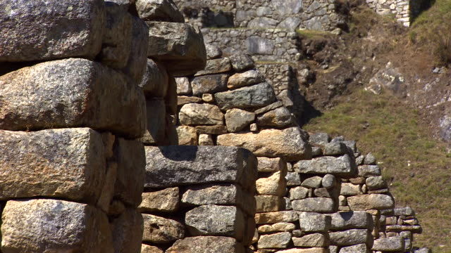 machu picchu, peru - 囲み塀点の映像素材/bロール