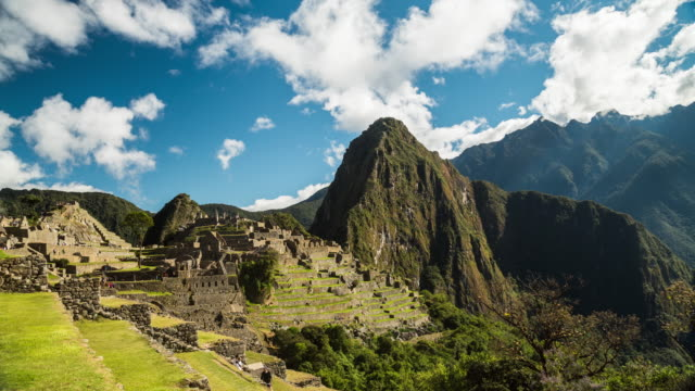 machu picchu - peru - south america stock videos & royalty-free footage