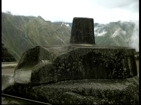 machu picchu, sun clock, cu, peru - instrument of time stock videos & royalty-free footage