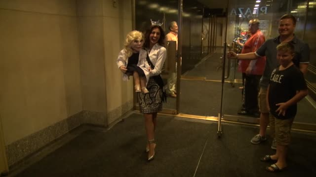 mackenzie bart and her ventriloquist puppet roxy leaving the today show on september 16 2014 in new york city - roxy nyc stock videos & royalty-free footage