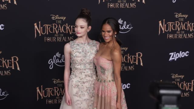 Mackenzie Foy and Misty Copeland at the The Nutcracker and the Four Realms World Premiere at Dolby Theatre on October 29 2018 in Hollywood California