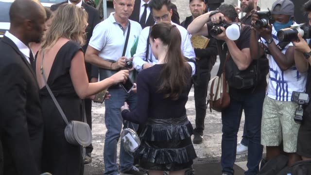 mackenzie foy arrives at the vogue foundation party as part of paris fashion week on july 3 2018 in paris france - mackenzie foy stock videos & royalty-free footage
