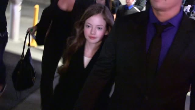 mackenzie foy departs the twilight breaking dawn 2 after party in los angeles 11/12/12 - mackenzie foy stock videos & royalty-free footage