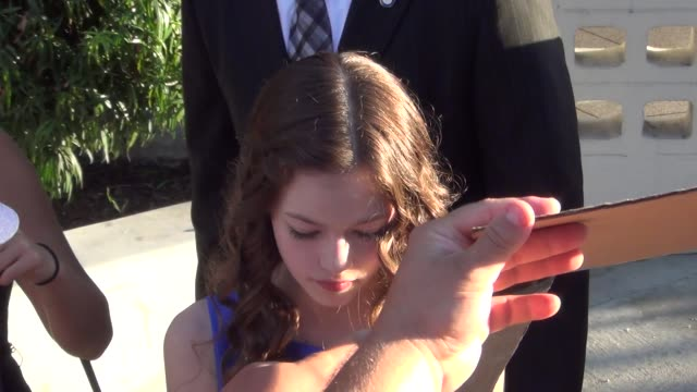 Mackenzie Foy greets fans at The Conjuring premiere at ArcLight Theatre in Hollywood at Celebrity Sightings in Los Angeles Mackenzie Foy greets fans...