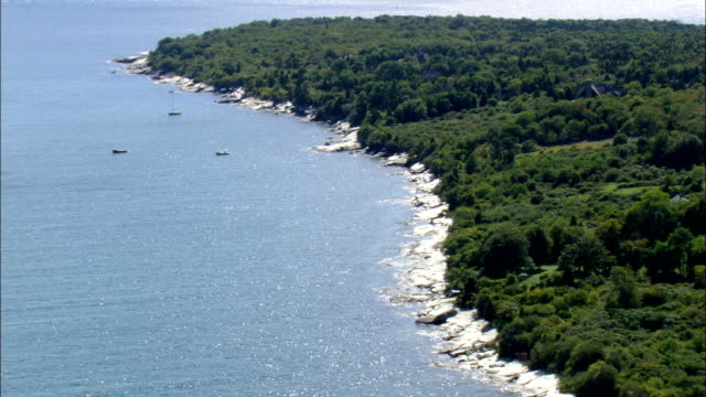 Mackerel Cove  - Aerial View - Rhode Island, Newport County, United States