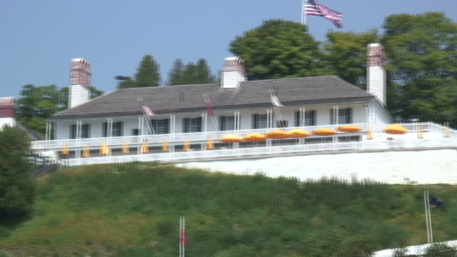 mackinac fort 2 - hd 1080/60i - tree fort stock videos & royalty-free footage