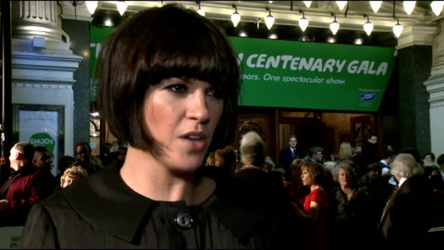 macmillan centenary gala dawn porter interview sot on macmillan on obsession with x factor going on xtra factor final on amelia lily should be in... - i'm a celebrity... get me out of here stock videos & royalty-free footage