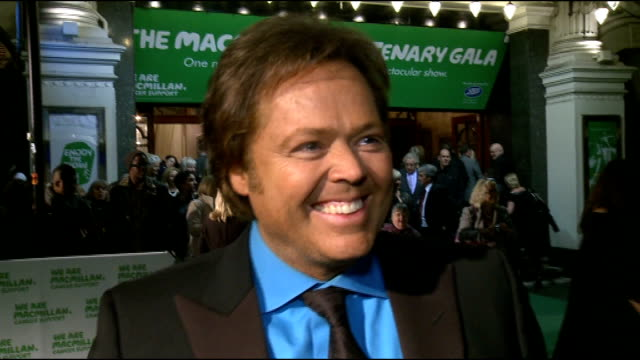 macmillan centenary gala; gvs jimmy osmond jimmy osmond interview sot - on macmillan being special and his friend producing the evening's event - on... - the osmonds stock videos & royalty-free footage