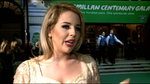 macmillan centenary gala lydia bright interview sot on towie christmas special on her typical christmas day at home on what arj could get her for... - i'm a celebrity... get me out of here stock videos & royalty-free footage