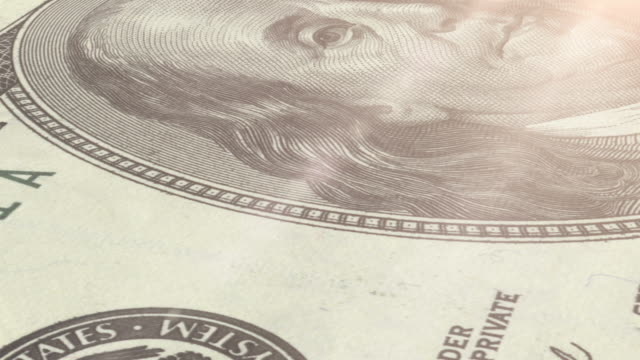 macro: 100 dollar bill - benjamin franklin stock videos & royalty-free footage