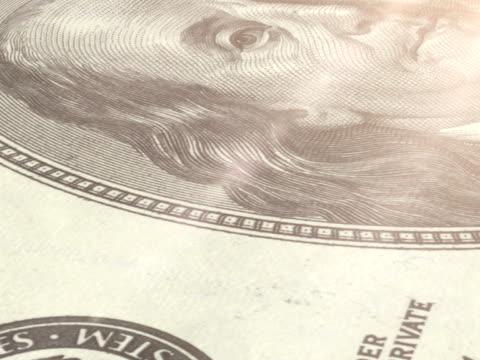 macro: 100 dollar bill (pal) - american one hundred dollar bill stock videos & royalty-free footage