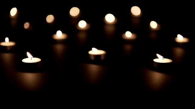 macro candles on black - church stock videos & royalty-free footage