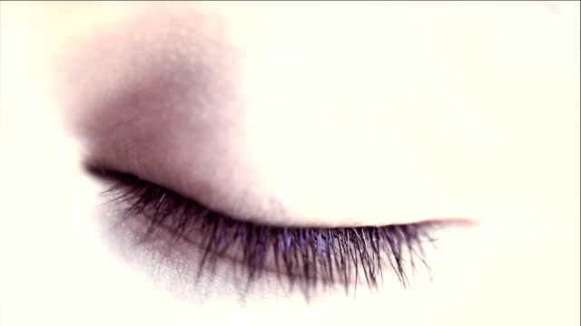 hd: macro close-up human eye - eyelash stock videos & royalty-free footage