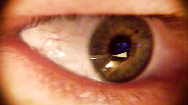 vidéos et rushes de macro gros plan de l'oeil humain - veine humaine