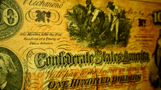macro: confederate 100 dollar bill - the machine: master or slave stock videos & royalty-free footage