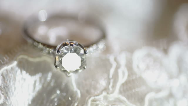macro diamond ring - stone object stock videos & royalty-free footage