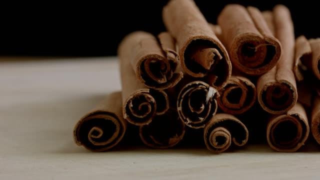 macro dolly : cinnamon - cinnamon stock videos & royalty-free footage