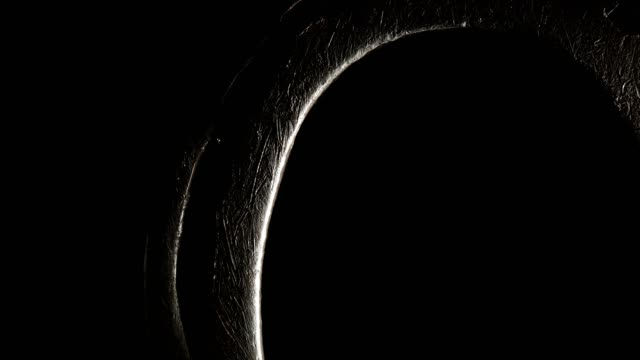 macro dolly: horseshoe on black background - ranch icon stock videos & royalty-free footage