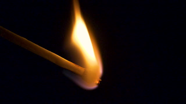 macro matchstick ignite in slow motion - sparks stock videos & royalty-free footage