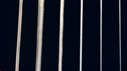 Macro set of Guitar Strings