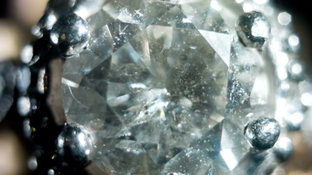 macro shot of a diamond ring. - stone object stock videos and b-roll footage