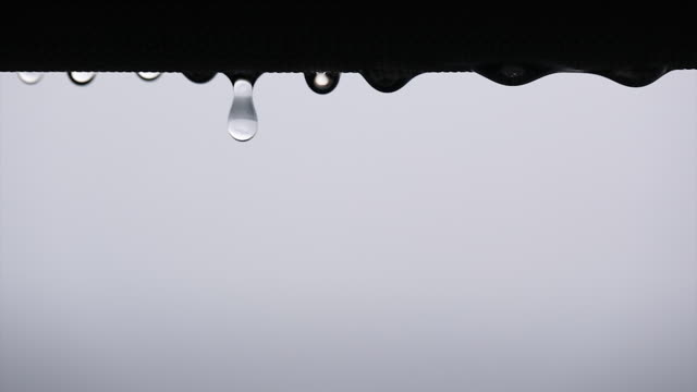 macro shot of a water dripping - sn�� bildbanksvideor och videomaterial från bakom kulisserna