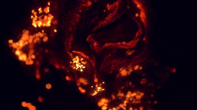 マクロ スチール ウールの燃焼スローモーション - スポンジ点の映像素材/bロール