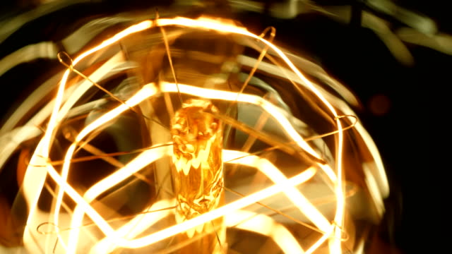 macro tungsten bulb - filament stock videos & royalty-free footage