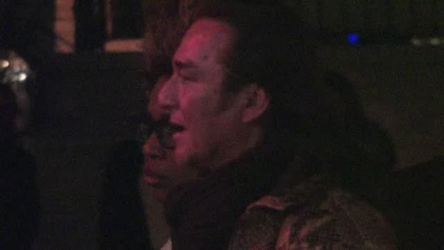 macy gray at chateau marmont in west hollywood 02/22/12 - メイシー グレイ点の映像素材/bロール