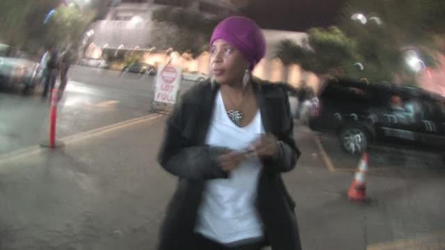 macy gray leaving bardot in hollywood at the celebrity sightings in los angeles at los angeles ca. - メイシー グレイ点の映像素材/bロール