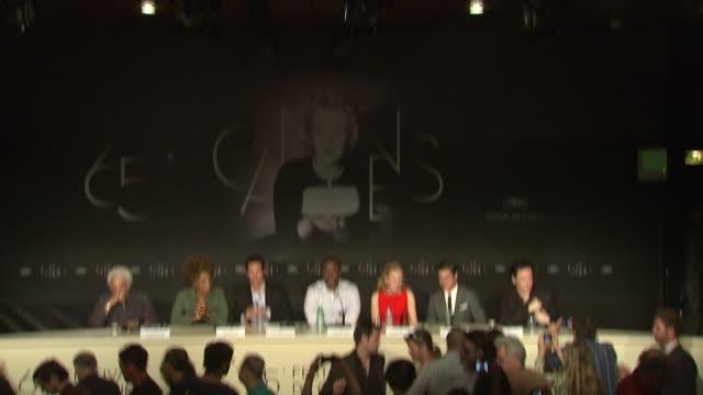 macy gray, matthew mcconaughey, lee daniels, nicole kidman, zac efron, john cussack at the paperboy press conference: 65th cannes film festival on... - メイシー グレイ点の映像素材/bロール