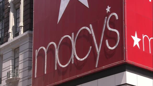 CU, Macy's Department Store sign, New York City, New York, USA