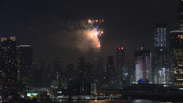 macy's fireworks display over the empire state building for the 4th of july celebration in manhattan new york city united states on july 4 2020 - fourth of july stock videos & royalty-free footage