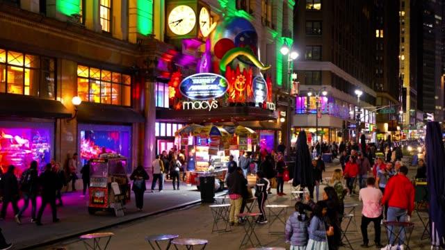vídeos y material grabado en eventos de stock de macy's mall and broadway - macy's