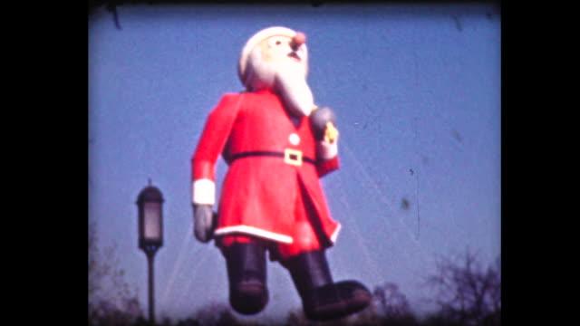 1939 macy's parade 6 (santa) - parade stock videos & royalty-free footage
