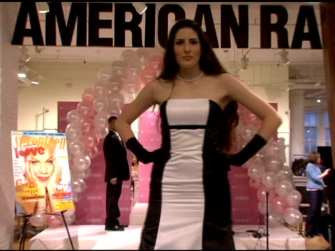 macy*s/seventeen magazine prom dress model at the in store performance by natasha bedingfield presented by macy's and seventeen magazine at macys... - natasha bedingfield stock videos & royalty-free footage