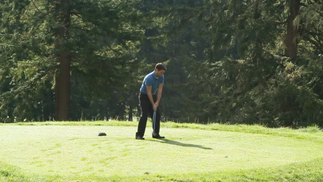 mad at the drive shot - golfer stock videos and b-roll footage
