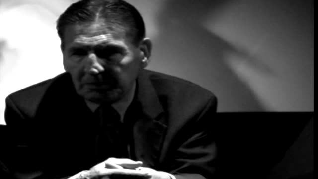 mad frankie fraser an english gangster and criminal who spent 42 years in prison for numerous violent offences answers a few questions as featured on... - mafia stock videos and b-roll footage