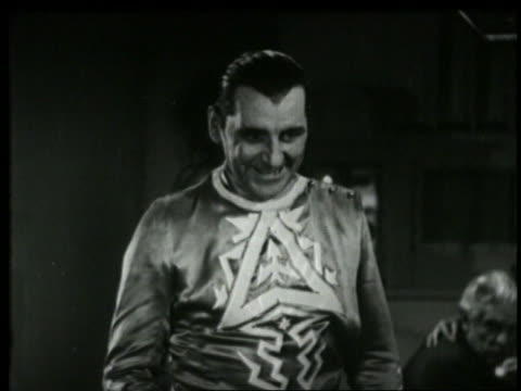 b/w 1935 mad scientist smiling demonically - 1935 stock videos & royalty-free footage